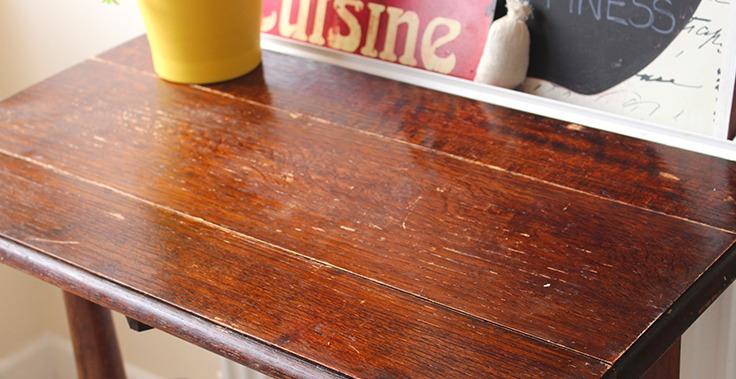 Diy mesa remodelada revista tigris - Pintar una mesa de madera ...